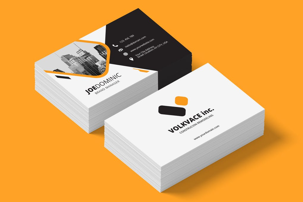 art director's pick of real estate investor business card #2