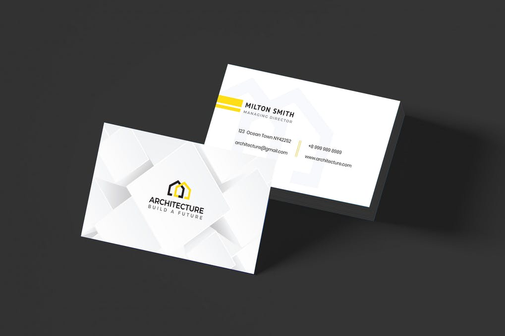art director's pick of real estate investor business card #3