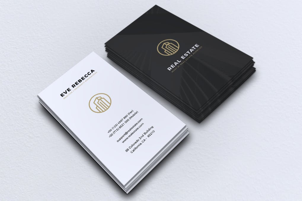 art director's pick of real estate investor business card #4
