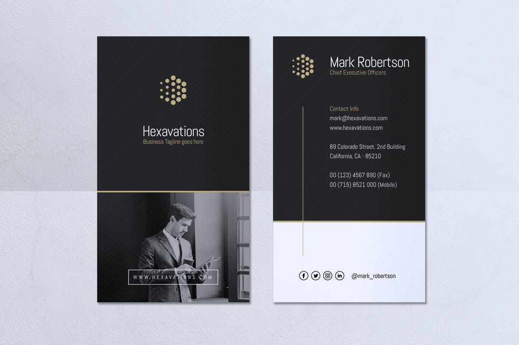 art director's pick of real estate investor business card #5