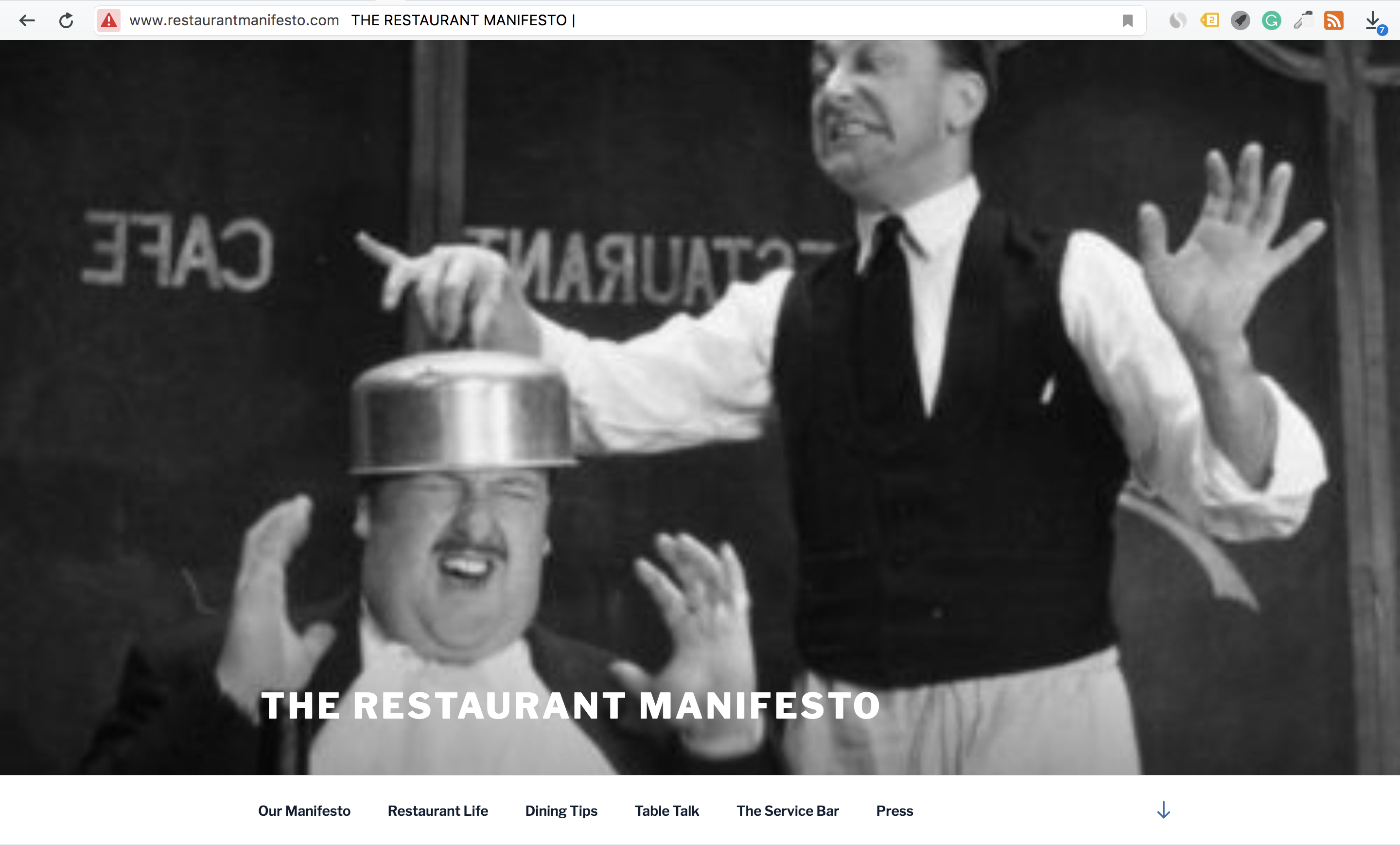 Restaurant Blogs - Restaurant Manifesto