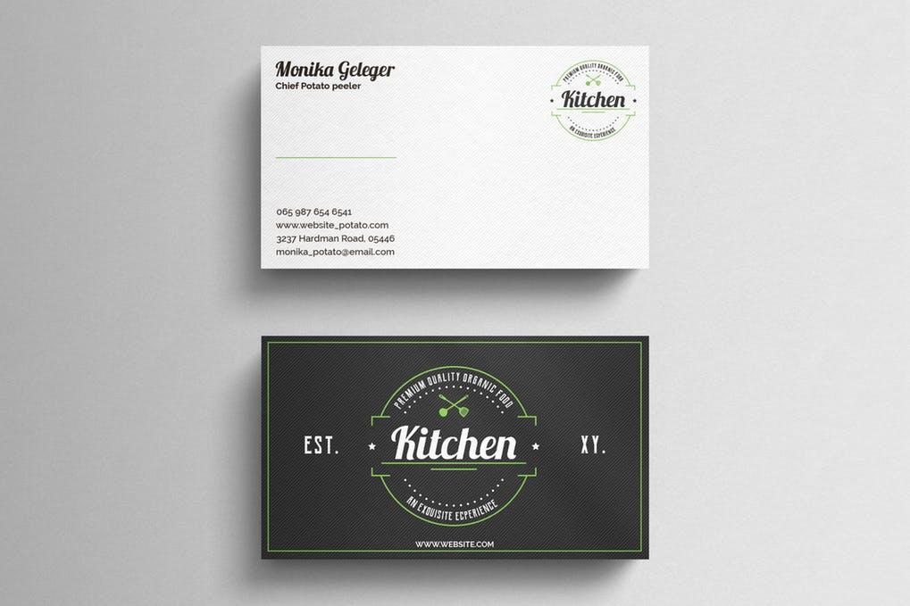 art director's pick of restaurant business card #1