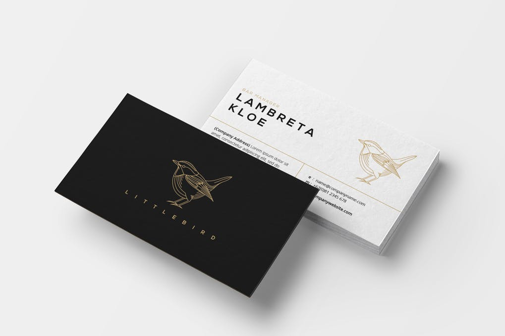 art director's pick of restaurant business card #9