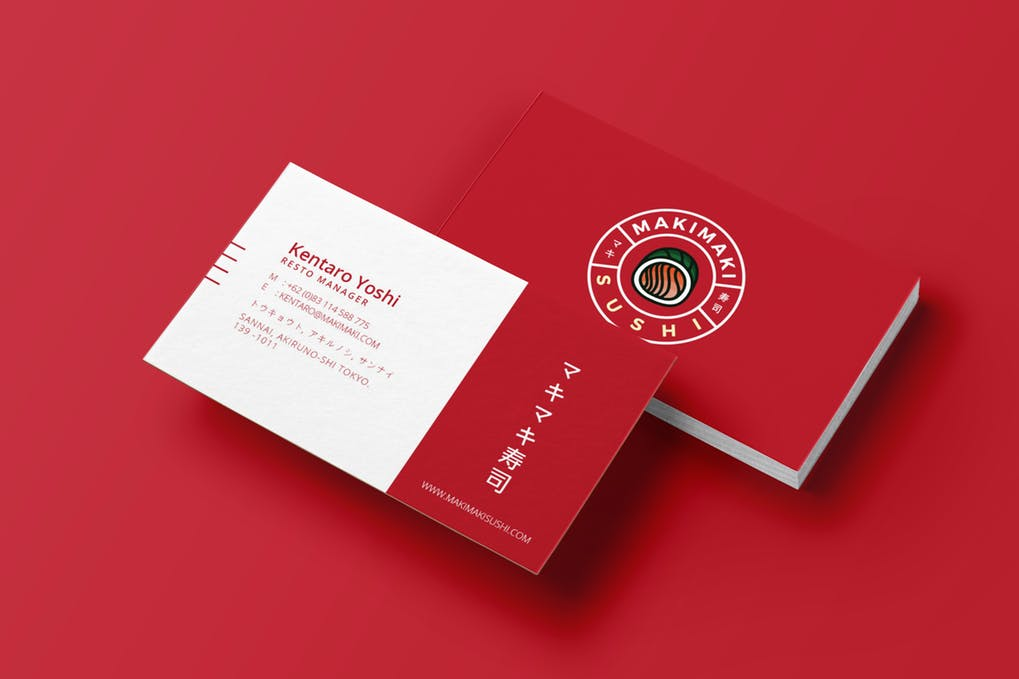 art director's pick of restaurant business card #11