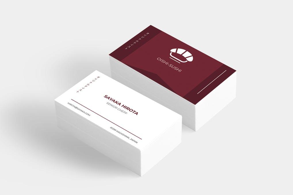 art director's pick of restaurant business card #14