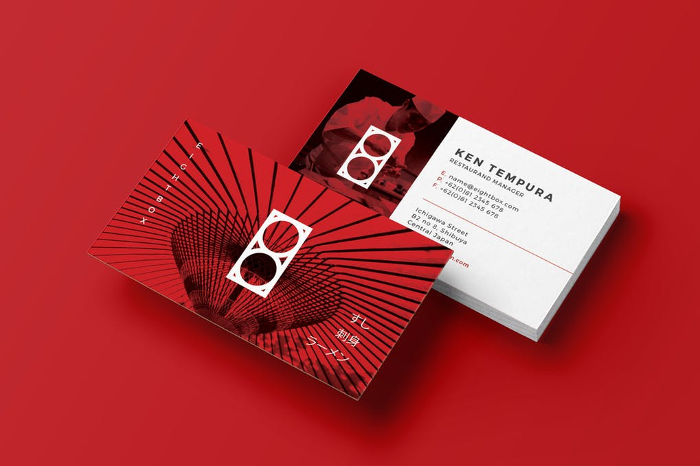 art director's pick of restaurant business card #15