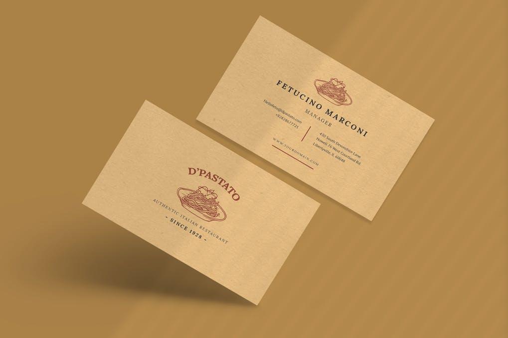 art director's pick of restaurant business card #3