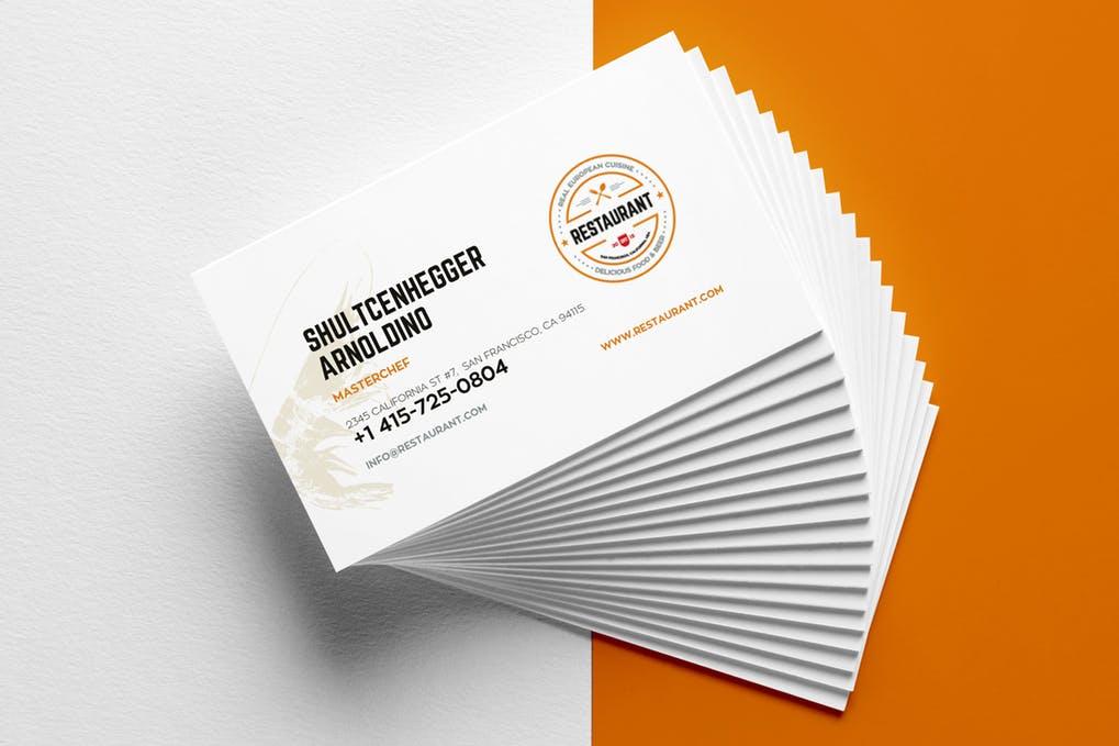 art director's pick of restaurant business card #5