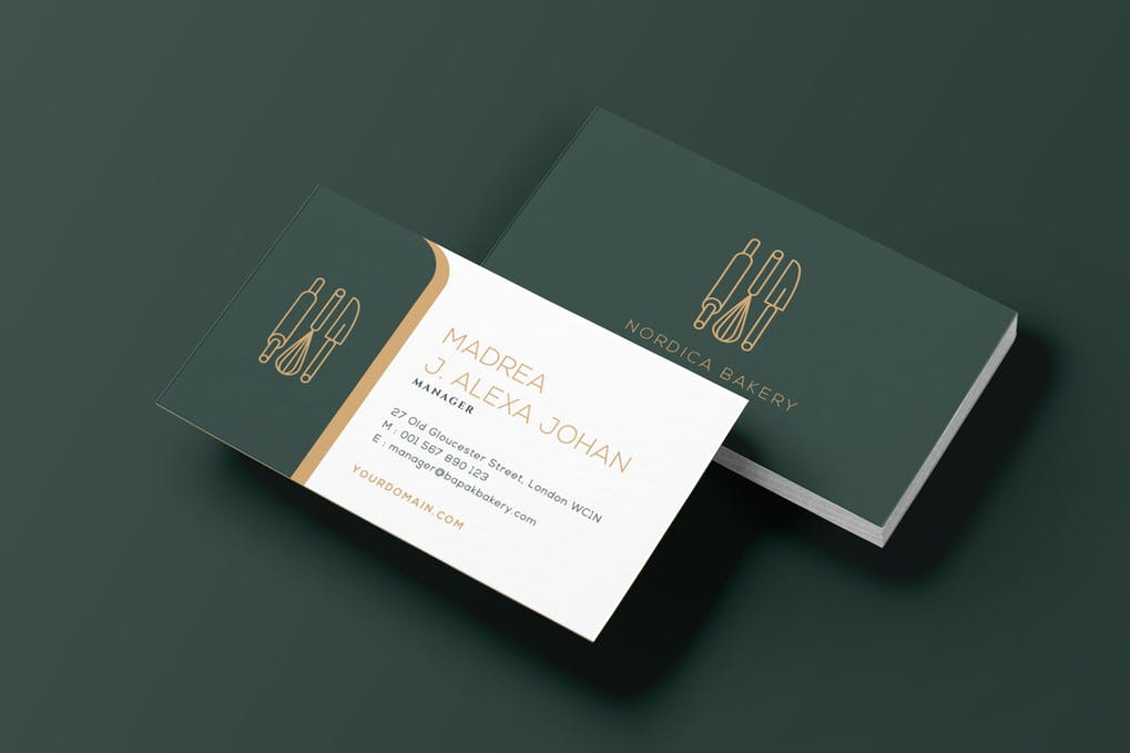 art director's pick of restaurant business card #7