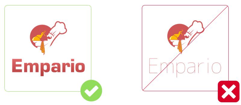 Restaurant Logos: Font + Icon