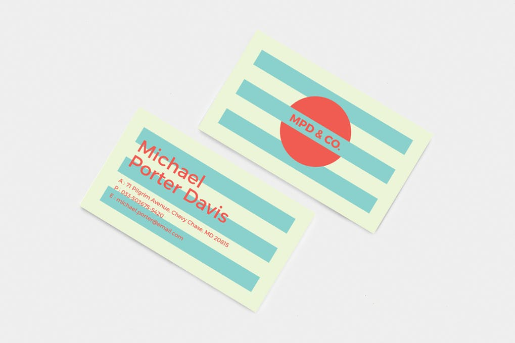 art director's pick of retro business card #2