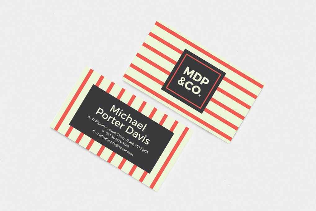 art director's pick of retro business card #4