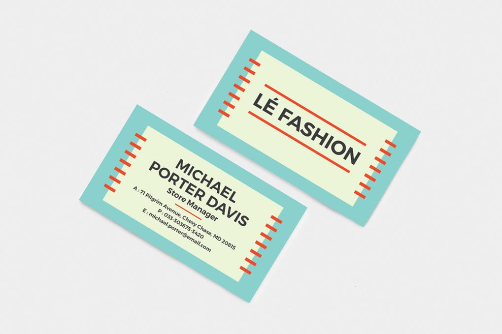 art director's pick of retro business card #5