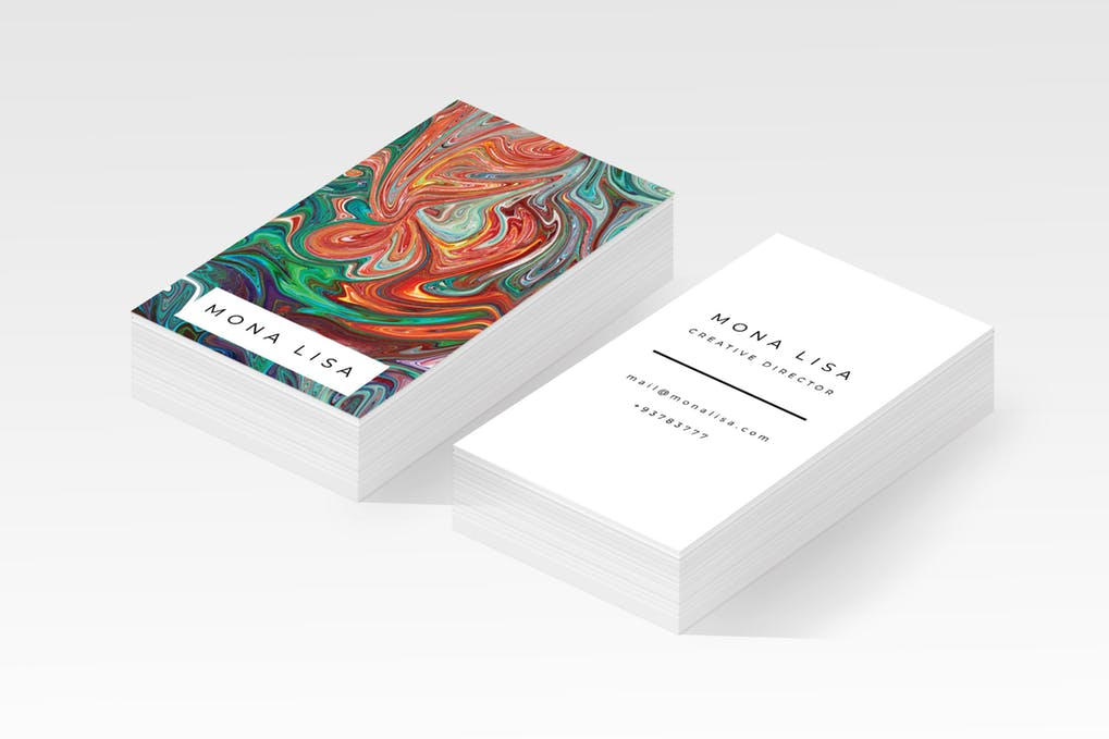 art director's pick of salon business card #1