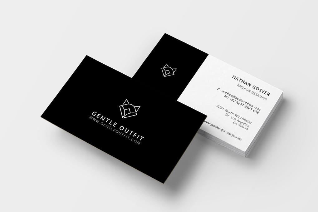 art director's pick of salon business card #12