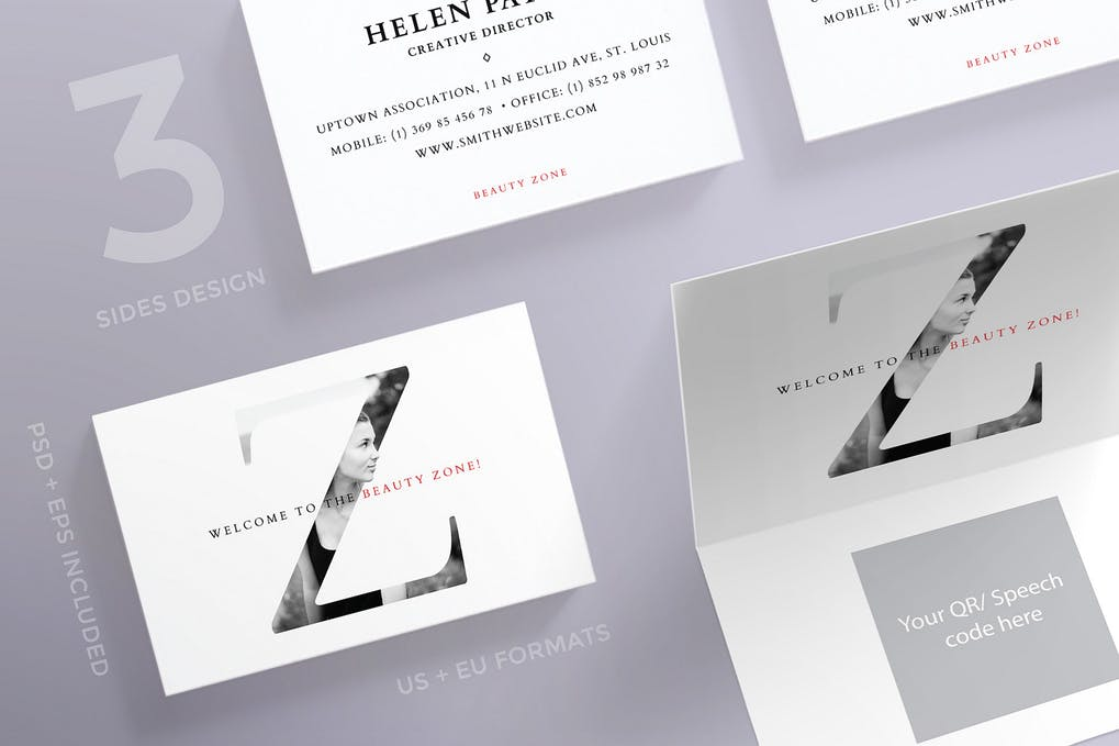 art director's pick of salon business card #3