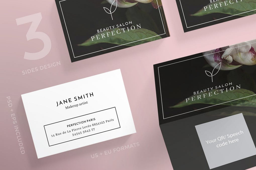 art director's pick of salon business card #5