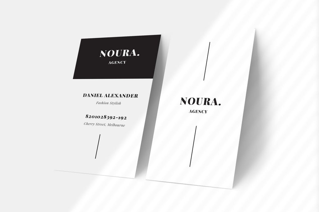 art director's pick of salon business card #8