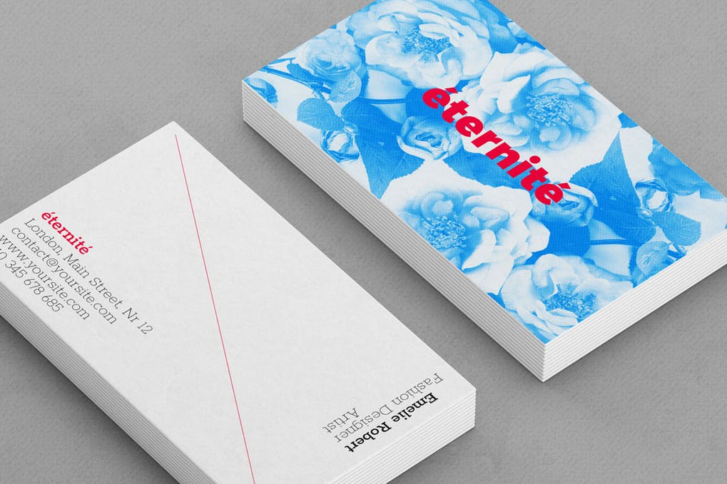 art director's pick of salon business card #9