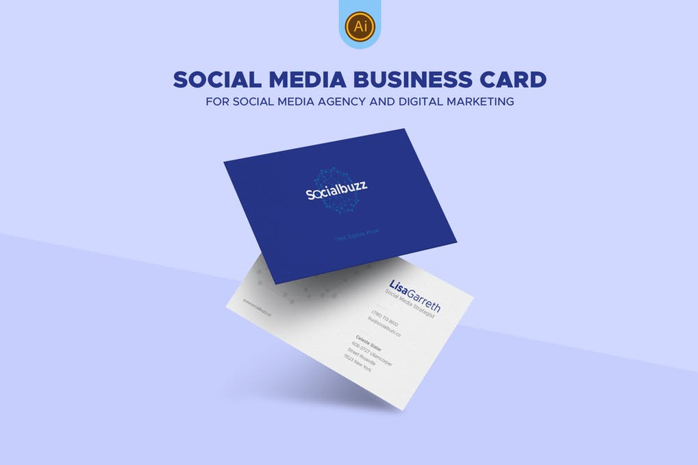 art director's pick of social media business card #1