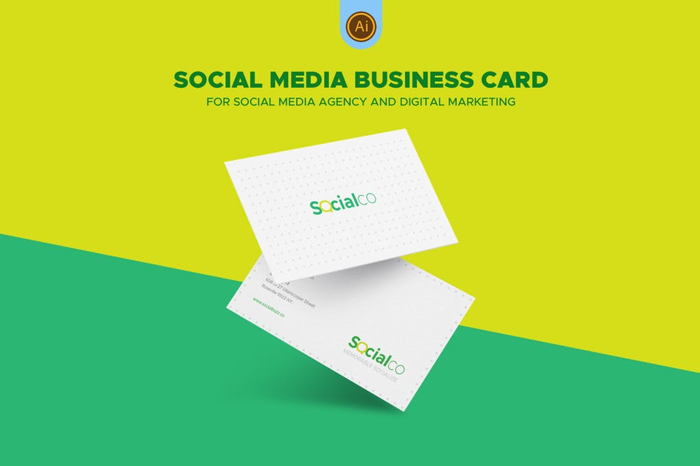 art director's pick of social media business card #2