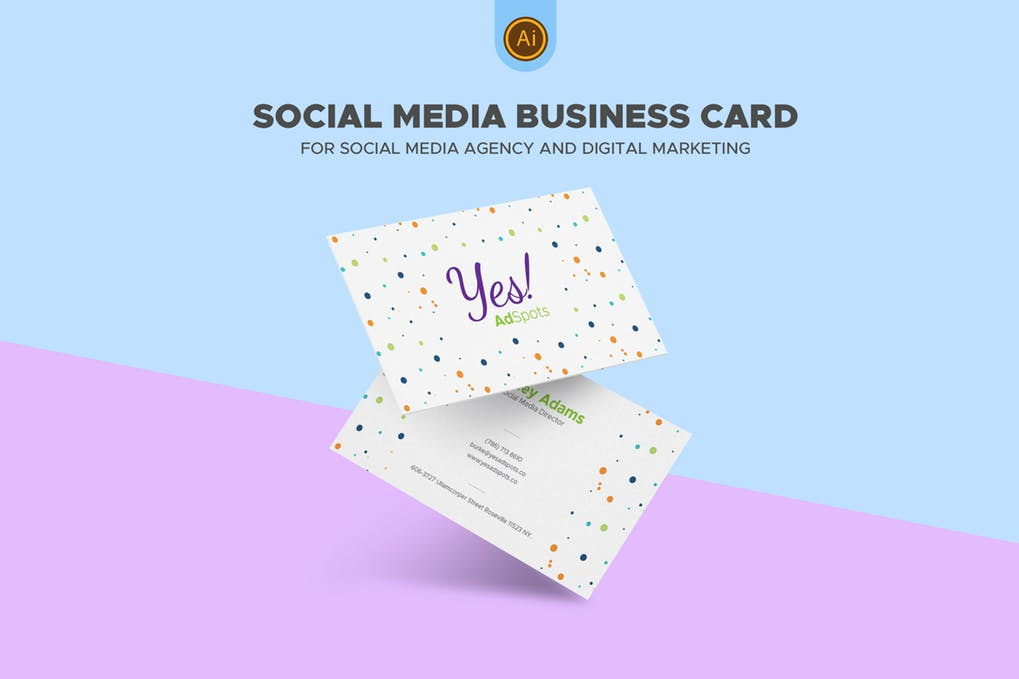 art director's pick of social media business card #3