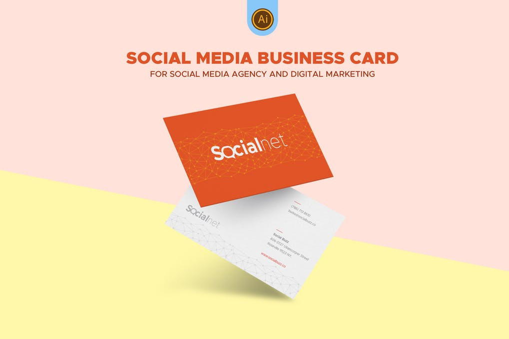 art director's pick of social media business card #4