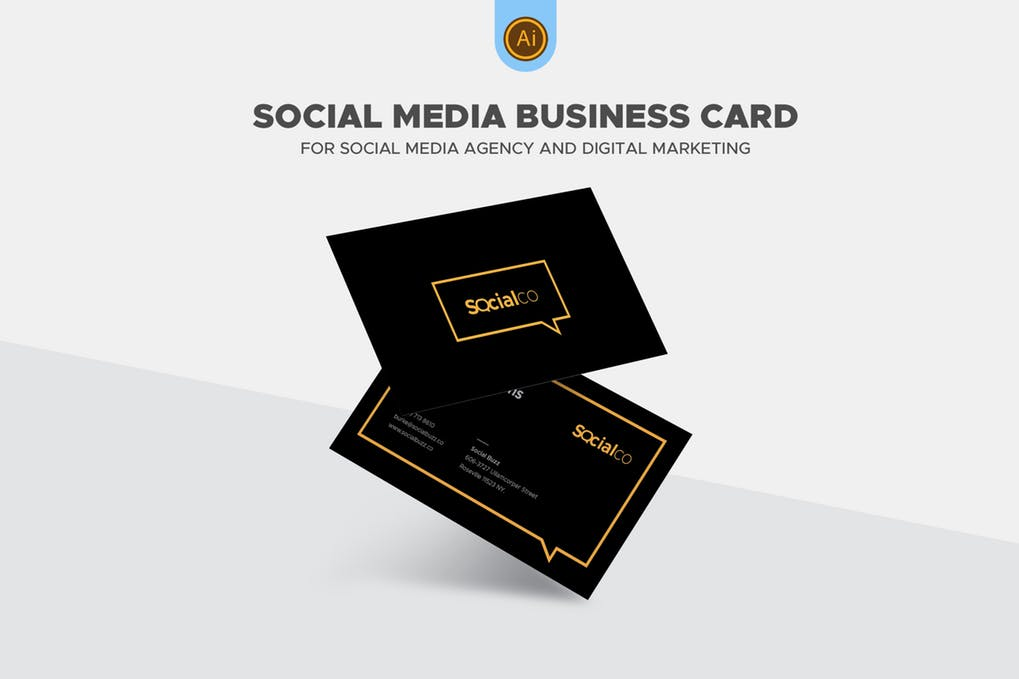 art director's pick of social media business card #5