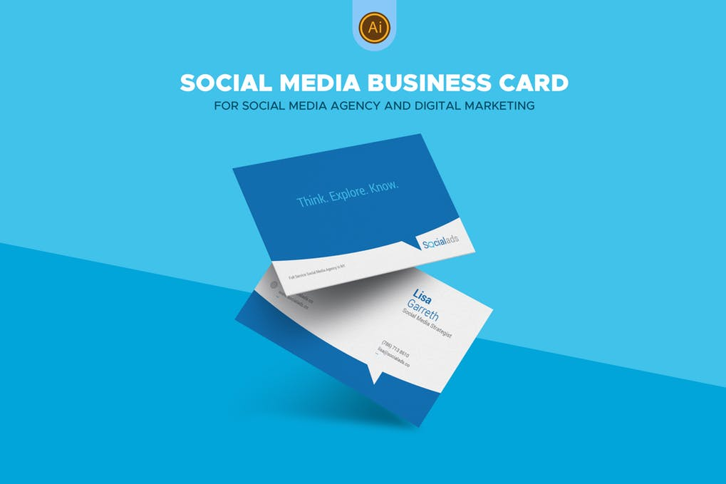 art director's pick of social media business card #6