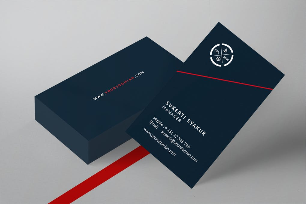 art director's pick of social media business card #8