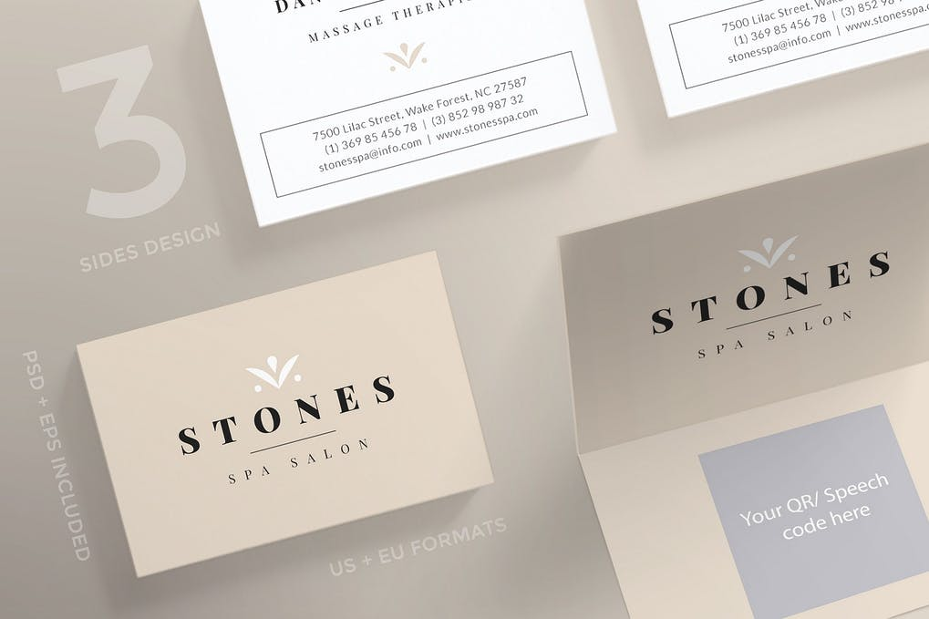 art director's pick of spa business card #1