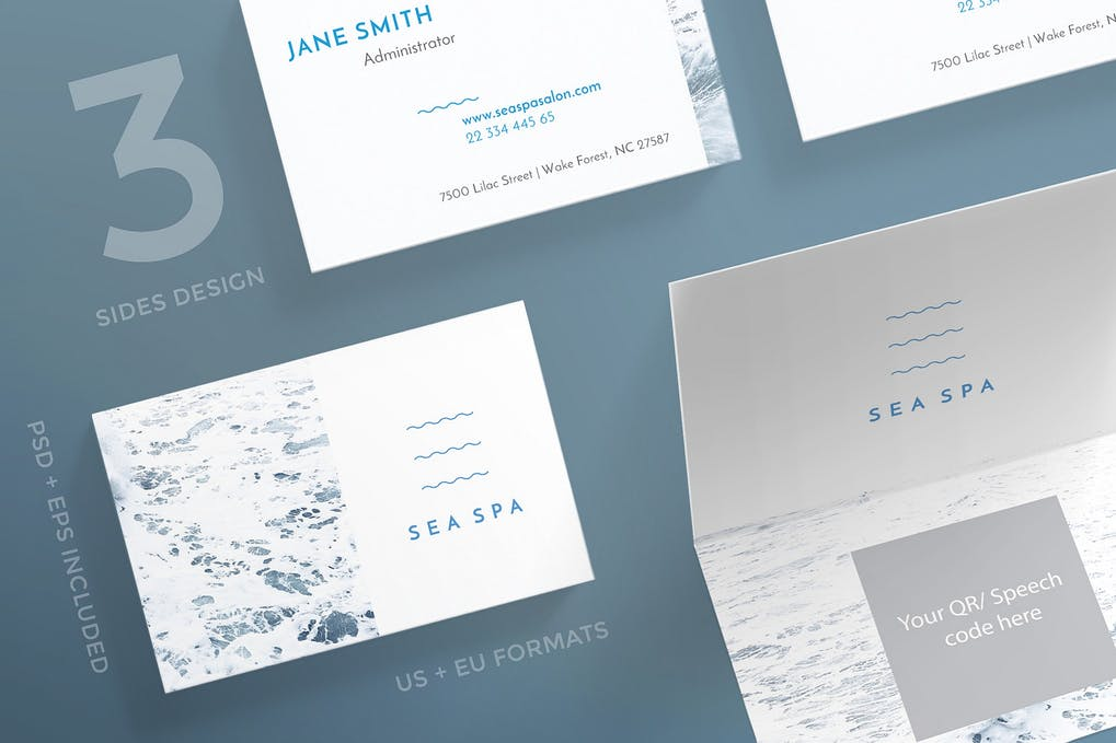 art director's pick of spa business card #2