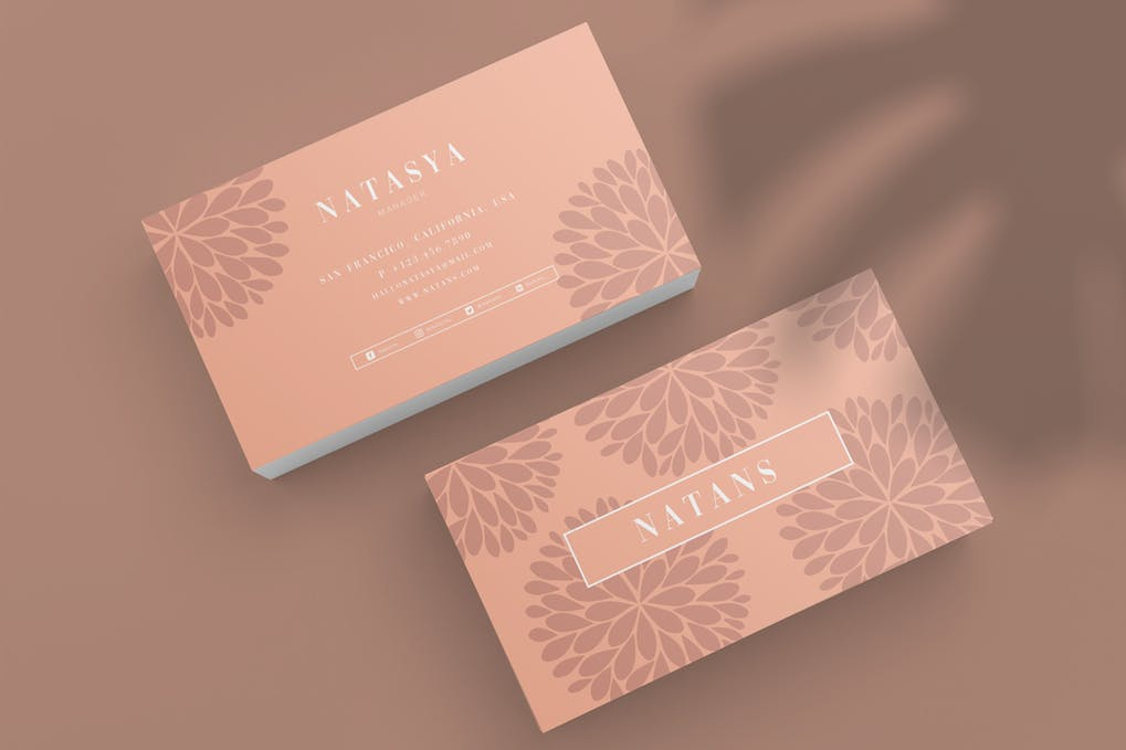 art director's pick of spa business card #4