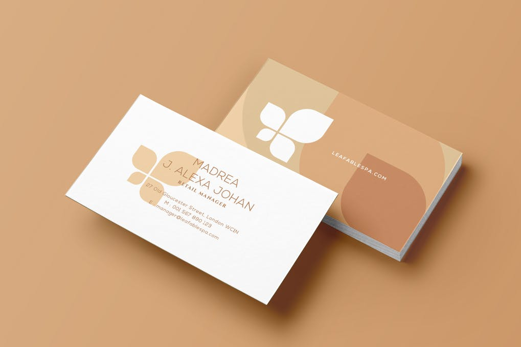 art director's pick of spa business card #5