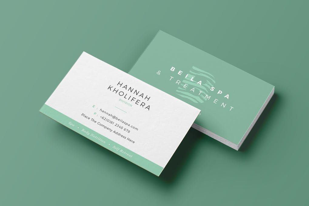 art director's pick of spa business card #6
