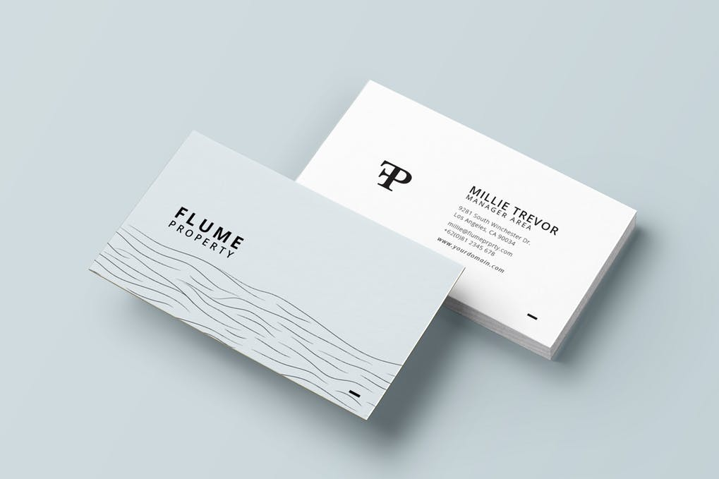 art director's pick of spa business card #7