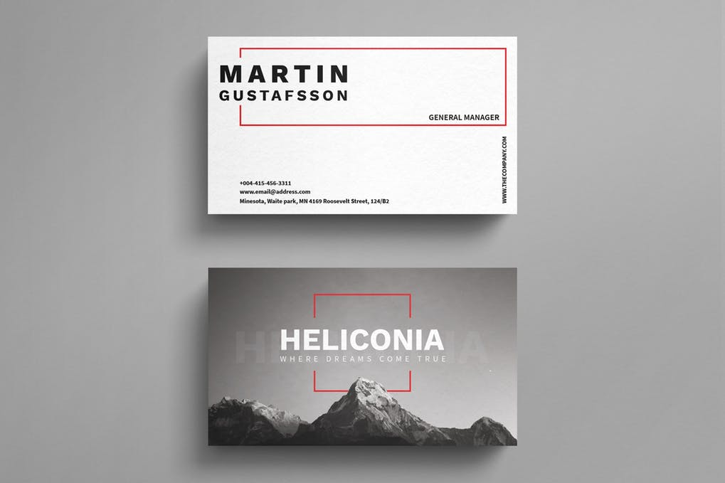 art director's pick of video business card #9