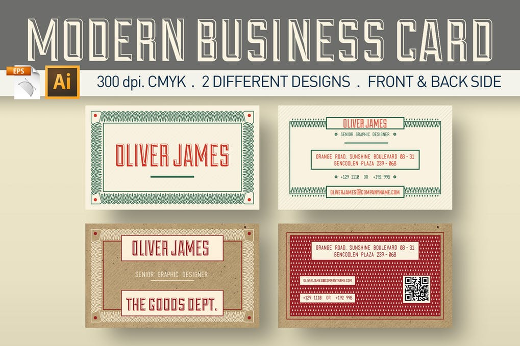 art director's pick of vintage business card #2