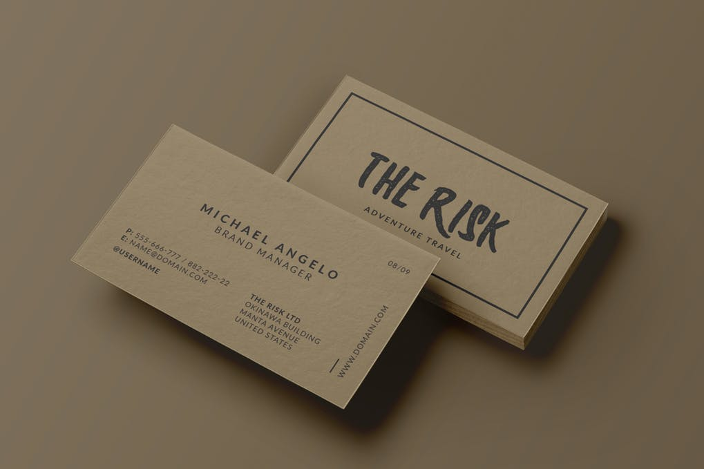 art director's pick of vintage business card #3