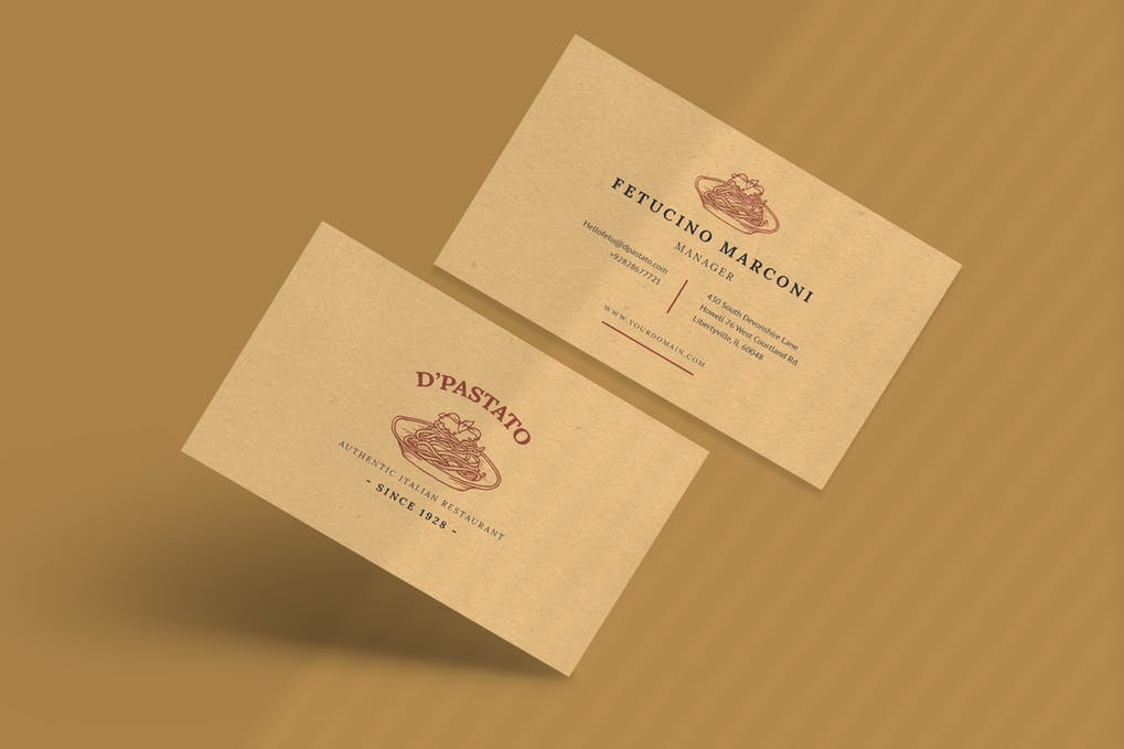 art director's pick of vintage business card #5