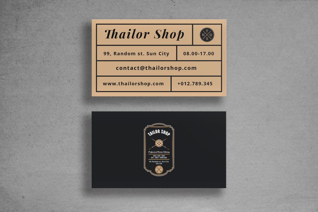 art director's pick of vintage business card #7