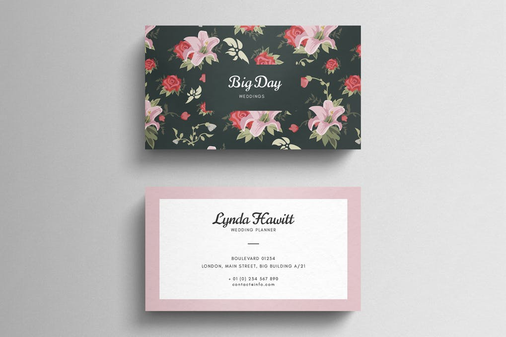 art director's pick of wedding business card #1