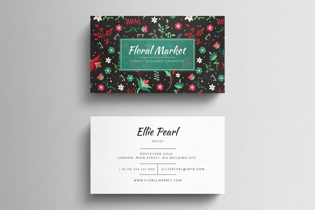 art director's pick of wedding business card #2