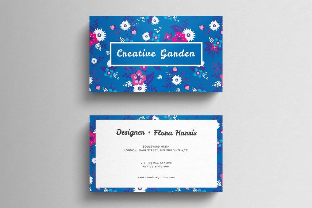 art director's pick of wedding business card #3