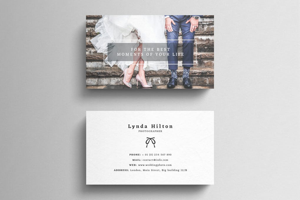 art director's pick of wedding business card #4