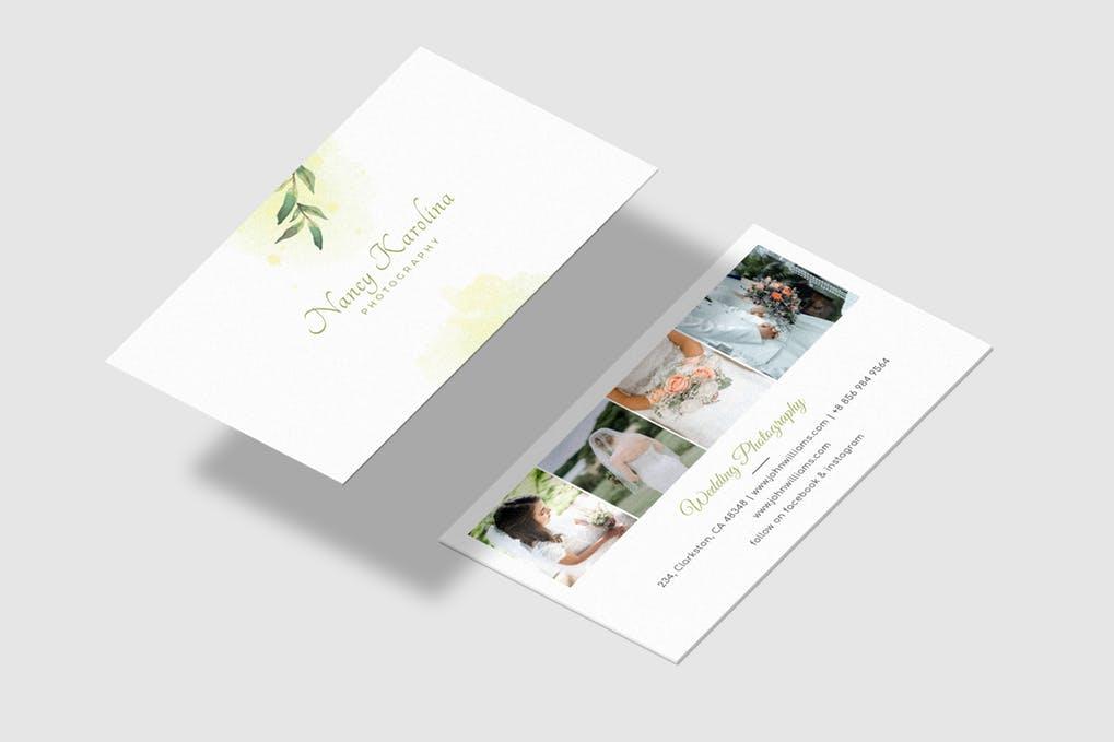 art director's pick of wedding business card #5