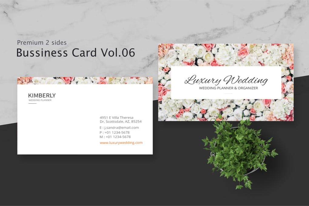 art director's pick of wedding business card #6