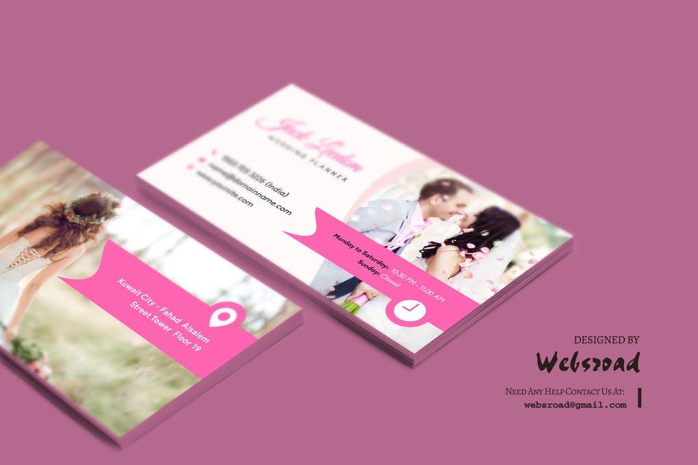 art director's pick of wedding business card #7