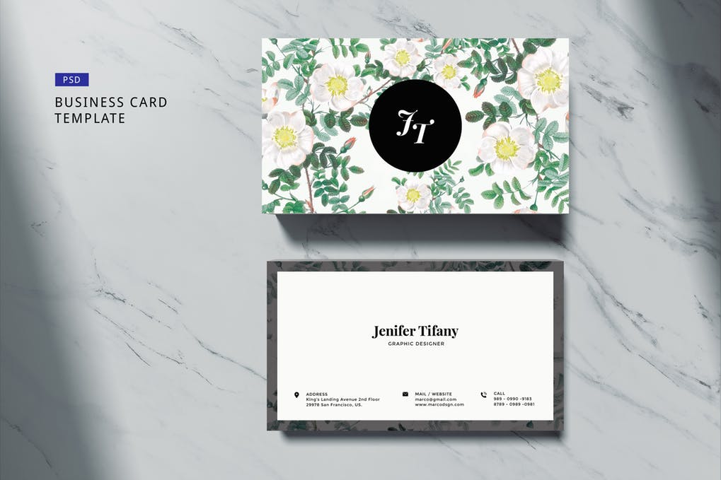 art director's pick of wedding business card #9