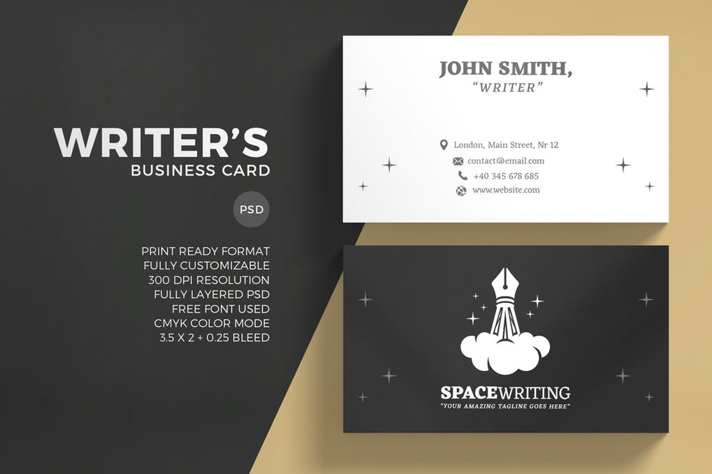 art director's pick of writer business card #1